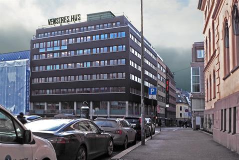 Venstres hus sto ferdig i 1954 og har blitt et landemerke på Youngstorget i Oslo sentrum.