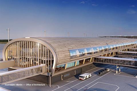 Takelementer fra Lett-Tak er for eksempel brukt på Bølgen konserthus i Larvik og på terminalbygget ved Oslo Lufthavn på Gardermoen. Copyrights: Office of Architecture