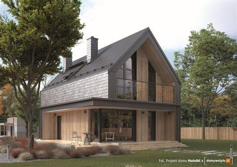 Nowoczesny dom z rynną ukrytą i pokryciem dachowym Ruukki Hyygge