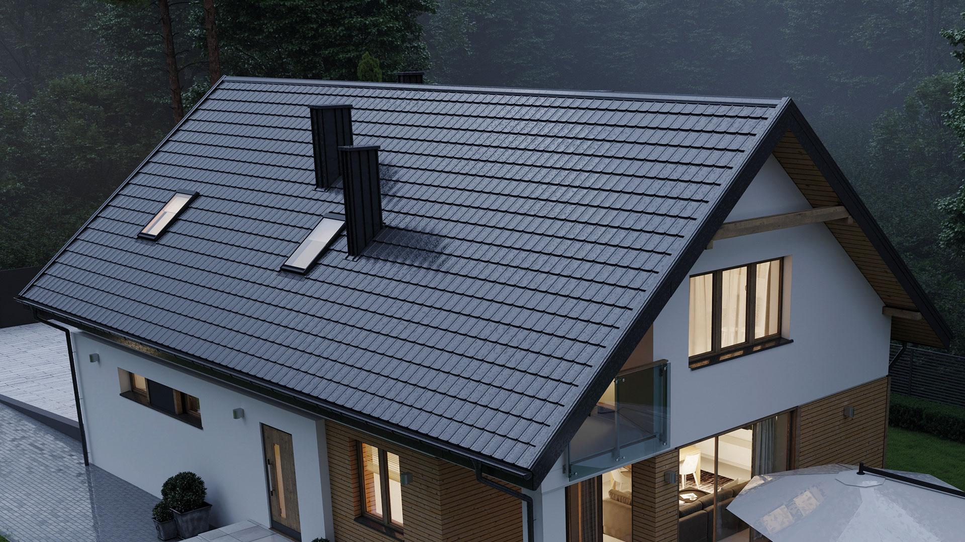 RUUKKI FRIGGE - nauja (2020 m) modulinė stogo danga