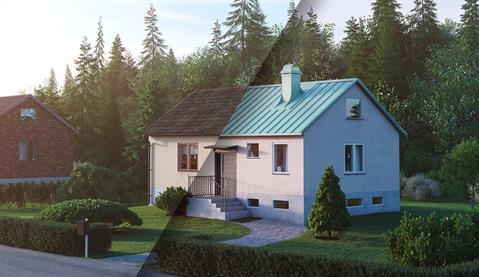 Et typisk 60-tallshus, før og etter minimalisten - Det store løftet | Plannja